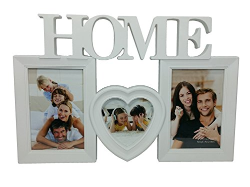 Two Hearts Picture Frame with 3 Collage Frame (White) - 8