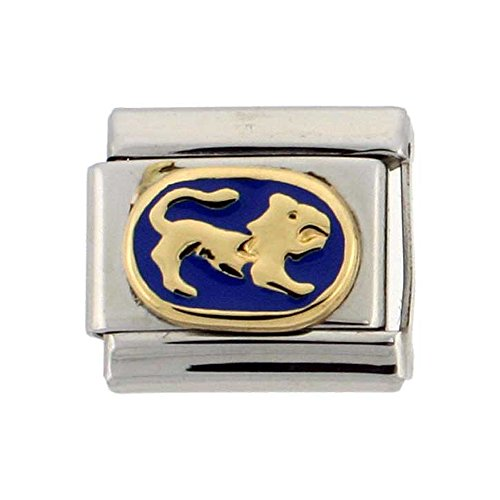Stainless Steel 18k Gold Leo Zodiac Sign Charm for Italian Charm (Zodiac Italian Charm)