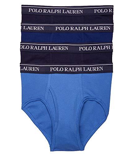 - Polo Ralph Lauren Classic Fit Cotton Brief 4-Pack, L, Blue Combo