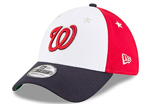 ationals 2018 MLB All-Star Game 39THIRTY Flex Hat - White, Navy (Large/XL) ()