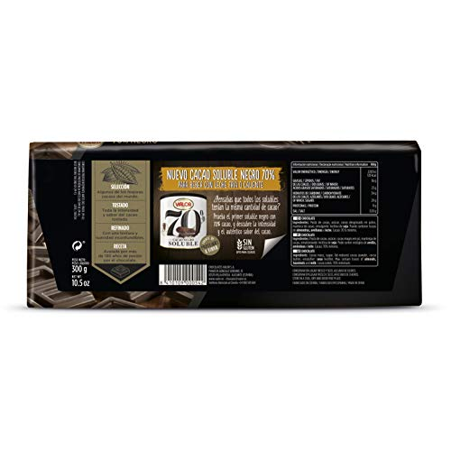 Chocolates Valor - Chocolate negro de 70% cacao - 300 g ...