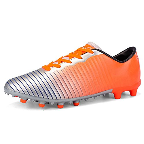 60ab773f7 YING LAN Men's Boy's Turf Cleats Soccer Athletic Football Outdoor/Indoor  Sports Shoes AG Color