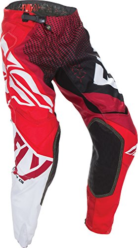 Fly Racing Unisex-Adult Evolution 2.0 Pants (Red/Black, Size 36) (Evolution Motorcycle Pants)