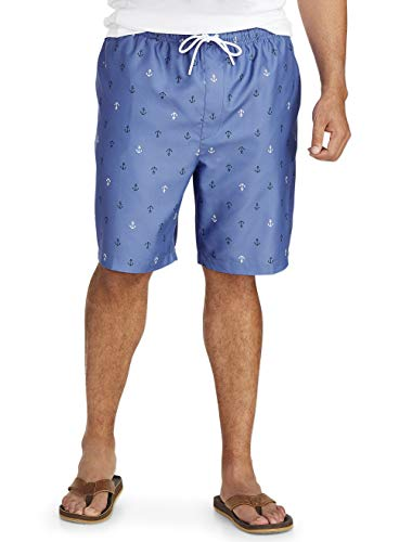 Essential Trunk - Amazon Essentials Men's Big & Tall Quick-Dry Swim Trunk fit by DXL, Anchor, 5XLT