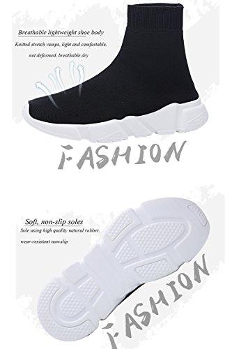 bae158555cac BADIER Mens Socks Shoes High Top Womens Mesh Casual Walking Running Sport  Sneakers