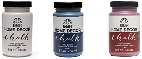 Plaid FolkArt Home Decor Chalk Ultra-Matte Paint Set 3, Synthetic Material,...