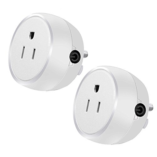 Guxen Mini Wifi Smart Plug Compatible with Alexa,Google Home Mini,No Hub Required, Remote Control by Cellphone App with Timing Function (White 2 Pack) by Guxen (Image #6)