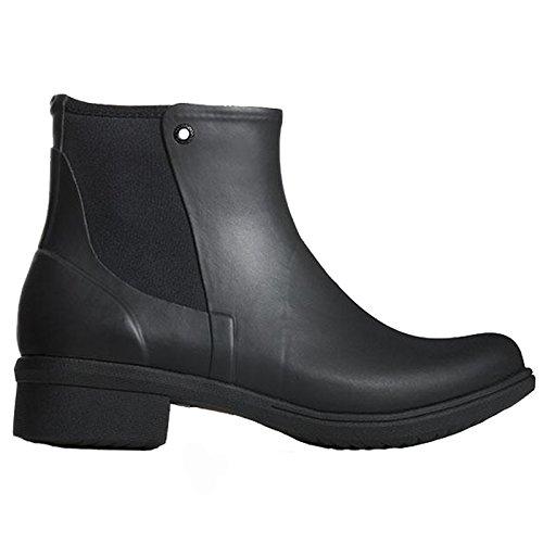 LADIES BOGS AUBURN RUBBER BLACK INSULATED CHELSEA WELLINGTON BOOT 72098-UK7 (EU41)