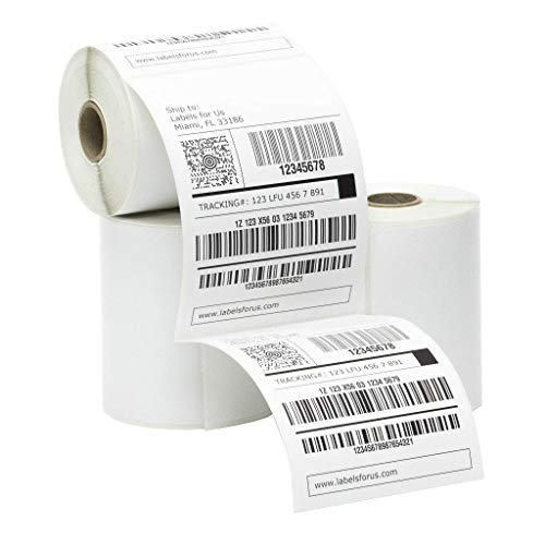 - Roll of 250 Thermal Transfer Labels 4 x 6. Very Sticky. Made in The USA. Blank mailing Labels. Paper. High Strength Acrylic Adhesive. Сompatible with UPS, FedEx, USPS.