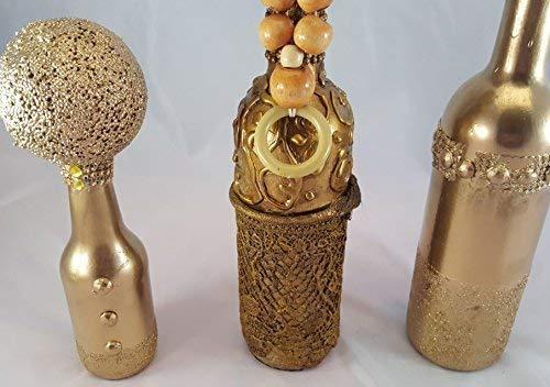 Decoración Hogar, Regalos de Navidad,regalos Especial,Aniversario,Merry christmas,Lara Home-Juego 3 botellas decorativas vintage: Amazon.es: Handmade