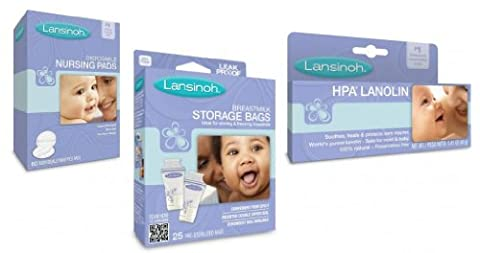 Lansinoh Disposable Nursing Pads with HPA Lanolin and Breastmilk Storage Bags - Lansinoh Disposable Breast Pads