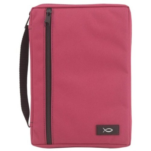 fuchsia-canvas-bible-cover-with-fish-patch-medium-by-gregg-gift-by-enesco