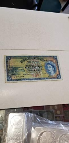 1957 BERMUDA ONE POUND NOTE- TOUGH TO LOCATE POST WAR CUURENCY NOTE-VERN