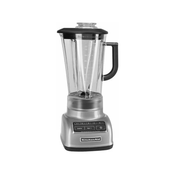 KitchenAid KSB1575 5-Speed Diamond Blender with 60-Ounce BPA-Free Pitcher 1 The diamond blending system ensures that all ingredients blend together quickly and efficiently The Intelli-Speed Motor Control senses contents and maintains optimal speed to power through all ingredients Stir, chop, mix, puree or liquify. Pulse mode works with all speeds for staggered blending