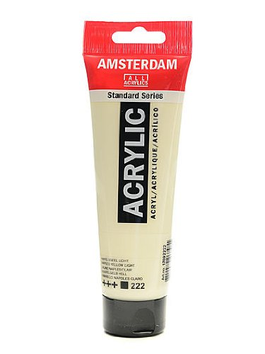Amsterdam Standard Series Acrylic Paint Naples yellow light 120 ml [PACK OF 3 - Light Naples 3