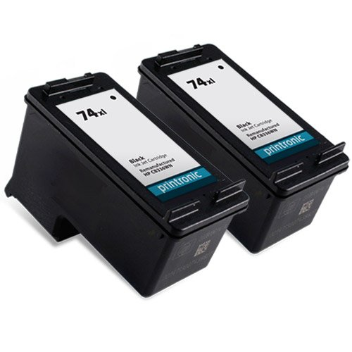 Printronic Remanufactured Ink Cartridge Replacement for HP 74XL CB336WN (2 Black)