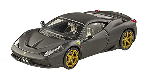 Hot Wheels Elite Ferrari 458 Speciale, Matte Black Vehicle (1:43 Scale)