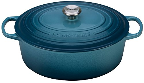 Le Creuset of America Enameled Cast Iron Signature Oval Dutch Oven, 8 quart, Marine