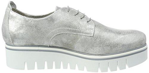 Tamaris Women's 23710 Oxfords, Silber (933 Silver Metall) Silver (Silver Metall. 933)