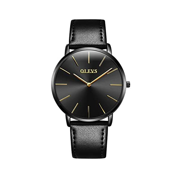 OLEVS Wrist Business Casual Classic Watch Cowhide Brand,Waterproof,6.5MM Thickness,Six Styles for Men/Women