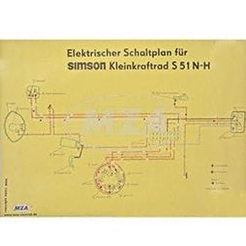 Schaltplan Farbposter (69x49cm) S51 N-H (beidseitig Glanzcello ...