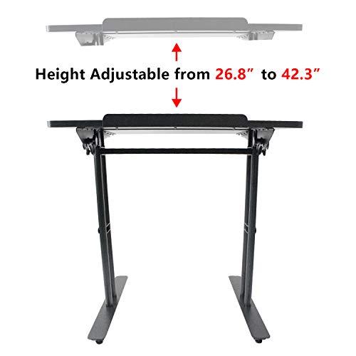Heyesk Stand Up Desk Height Adjustable Home Office Desk with Standing (Black) by heyesk (Image #5)