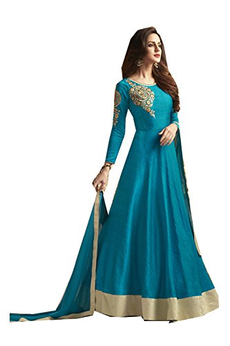 itsindiancrafty Indian Women Designer Partywear Ethnic Traditonal Sky Blue Anarkali Salwar Kameez. by itsindiancrafty