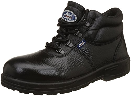 Allen Cooper AC-1144 High Ankle Safety Shoe, DIP-PU Sole, Black, Size 8 Price & Reviews