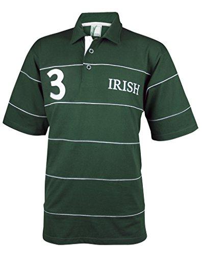 CROKER Irish Green Piping Polo Shirt (Polo Bold Jersey Stripe)