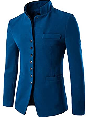 Beloved Mens Winter Coat Single Breasted Wool Pea Coat