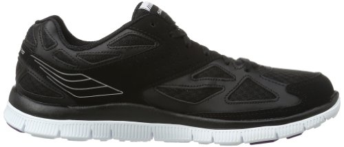 Skechers Sport Donna Allineante Fashion Sneaker Nero / Bianco