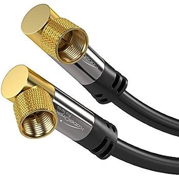 Amazon.com: KabelDirekt 10 ft 75 Ohm HDTV SAT/TV cable, 90° angled ...