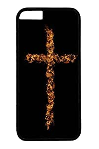 Personalized Protective Cases for iPhone 6 PC Black Edge - Cross Fire