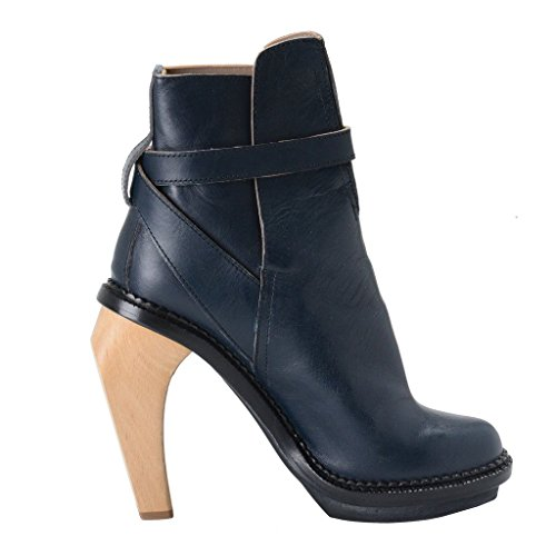 Leather Blue Platform Shoes Boots Blue Runway Cacharel Ankle Women's xn8wtwSa