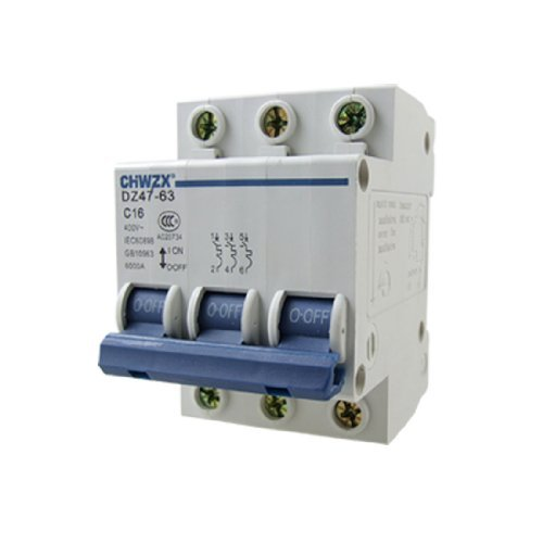 DealMux 16A 400V Safety Switch Miniature Circuit Breaker 3 Pole