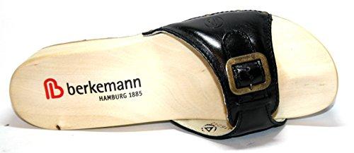 Berkemann - Zuecos de Piel para mujer Gris gris Gris - Schwarz (schwarz 901)