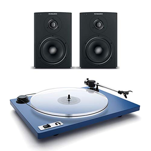 Dynaudio Xeo 2 Wireless Bookshelf Speakers and U-Turn Orbit Plus Turntable with Built-in Preamplifier (Blue) - Dynaudio Studio Speakers