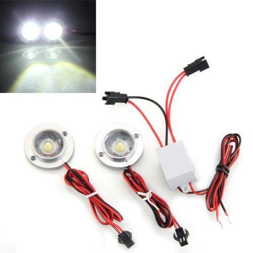 2 x Lámpara LED Bombilla Luz Blanco Estroboscopico Alta Potencia para Coche Moto