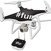 Skin For DJI Phantom 4 Quadcopter Drone – Fun | MightySkins Protective, Durable, and Unique Vinyl Decal wrap cover | Easy To Apply, Remove, and Change Styles | Made in the USA