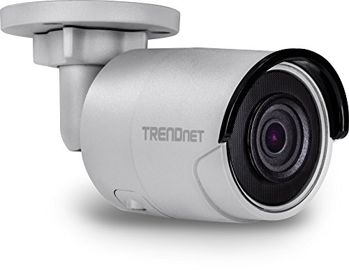 TRENDnet Indoor/Outdoor 5MP H.265 WDR PoE IR Bullet Network Camera, Night Vision up to 30 M (98 ft.), IP67 Rated Housing (-22° – 140°F), 120dB WDR, Free App for Android and IOS, TV-IP316PI