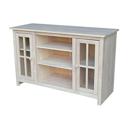 International Concepts TV Stand with 2 Doors and Two Shelf by International Concepts