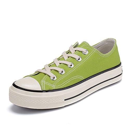 Männer - casual mode leinwand schuhe studenten leinwand schuhe studenten  niedrig - leinwand schuhe,grüne,36
