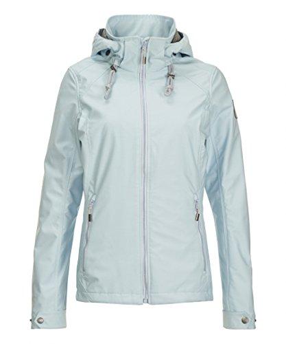 Killtec - Damen Softshell Jacke mit Abnehmbarer Kapuze, Sirena (31864) Hellblau (00806)