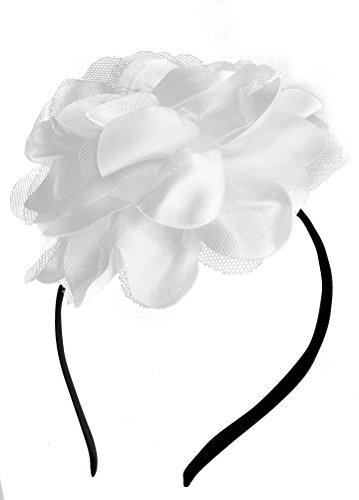 [Removable Fascinators Hair Clip Head Hoop Headband Brooch Flower Derby Party Wedding (White)] (Ganster Hat)