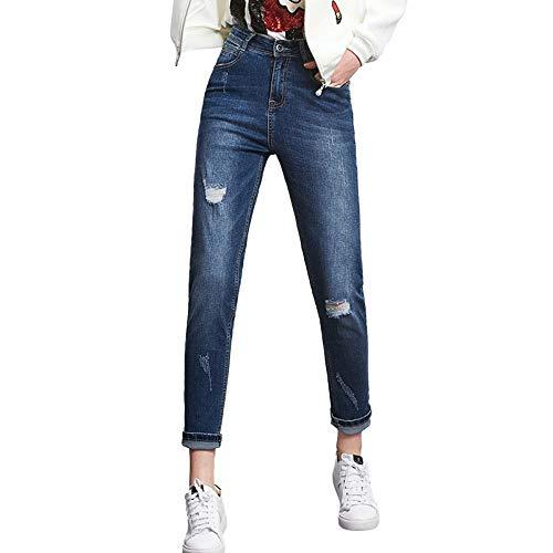Moda Full Women S Jeans Bleach High Donn Size Calda Plus Harem Metà Blipped Street Allentati Rlwfjxh Vendita Summer A Vita Cool Length 8qp6wU1Ux