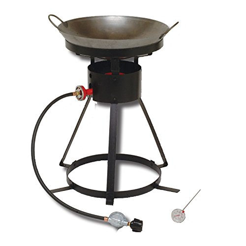 King Kooker 24WC Heavy-Duty 24-Inch Portable Propane Outdoor Cooker with 18-Inch Steel Wok - Outdoor Cooking