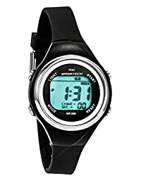 Sportech Women's | Thin Band Water Resistant Swim Sport Watch (black)