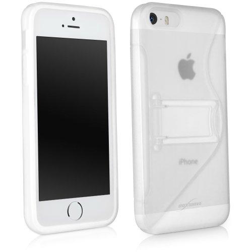 """BoxWave Coloursplash Apple iPhone 5s Case mit Ständer - langlebig, Schutzhülle aus TPU mit einklappbarem Ständer, mit farbigem """"S"""" auf der Rückseite Dual Apple iPhone 5s - Hüllen (mattiert)"""