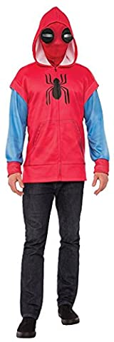 Rubie's Men's Adult Spider-Man: Homecoming Sweats Costume Hoodie, As/Shown, X-Large - Authentic Spider Man Costume Accessories