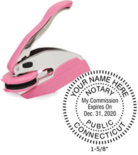Breast Cancer Awareness Trodat Ideal Notary Seal Embosser | Connecticut